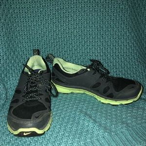 Black and Neon Green Nike Flex Trail Sneakers